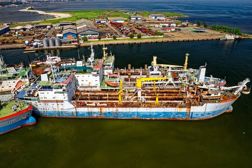 Aerial Shot Of Ship