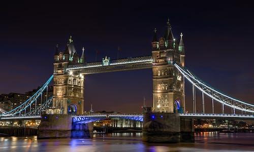 Foto d'estoc gratuïta de aigua, Anglaterra, ciutat, llums