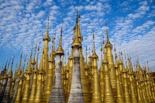 Free stock photo of blue sky, cloud, golden, pagoda