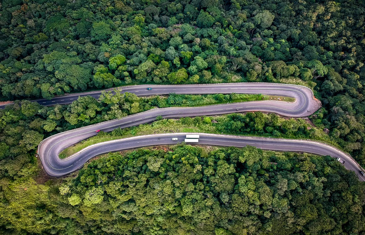 Birds-eye View of Road