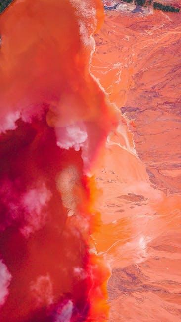 Red orange waves wallpaper