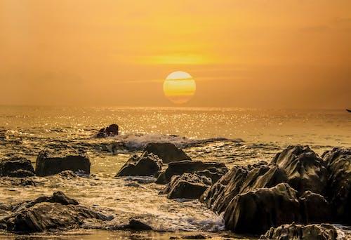 Fotos de stock gratuitas de amanecer, cielo, en la playa, Fondo de pantalla 4k