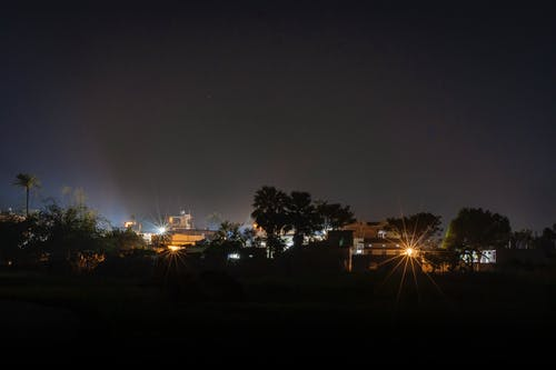 Gratis stockfoto met dorp, nachtlampen