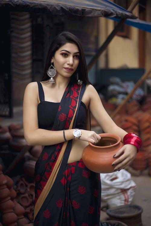 亚洲模特, 印度女孩, 时尚摄影, 時尚 的 免费素材照片