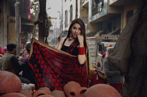 亚洲模特, 纱丽, 部落客 的 免费素材照片