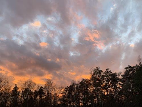 Imagine de stoc gratuită din apus, apus de soare roșu, nori