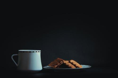 Gratis stockfoto met biscuits, drinken, eten, koffie