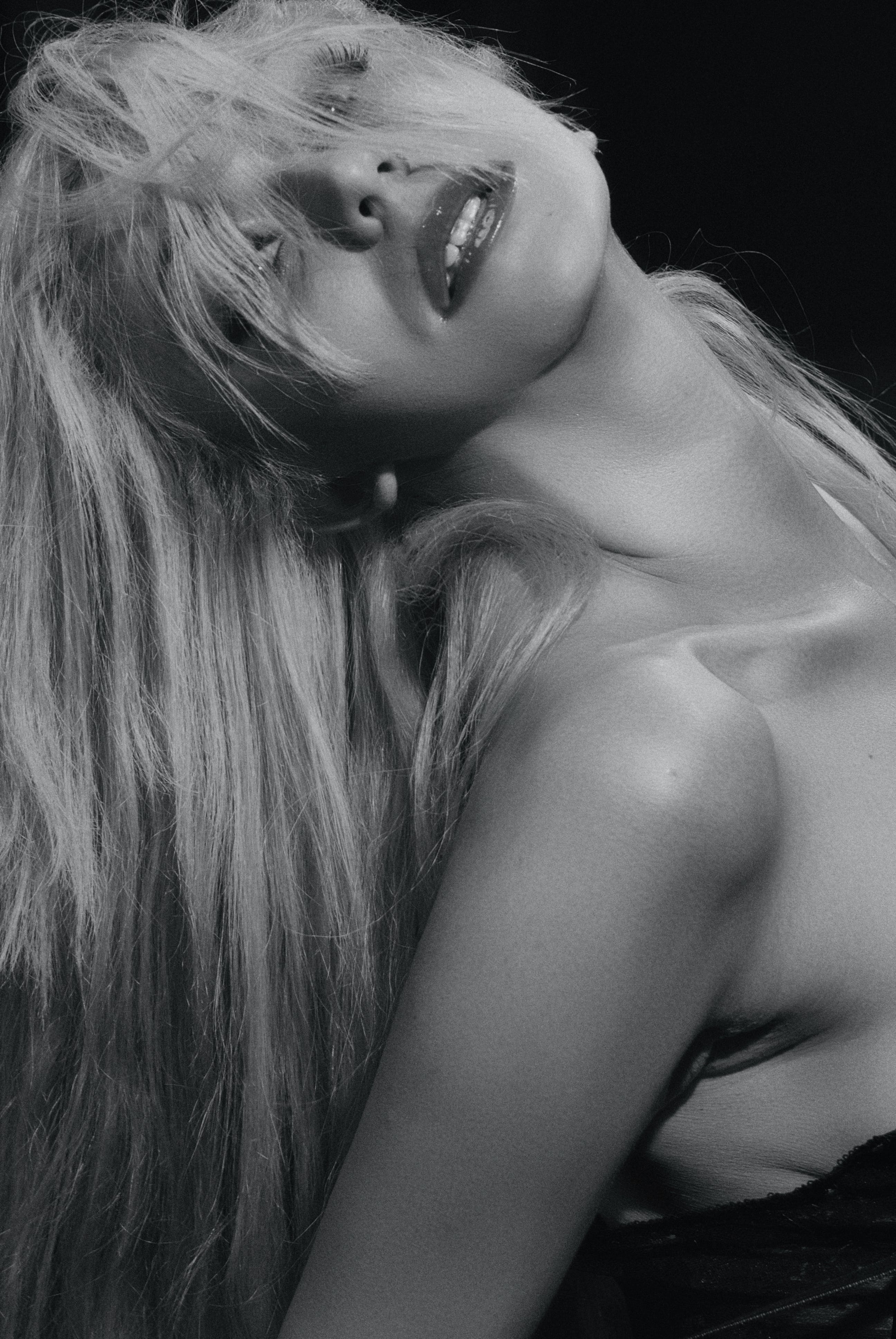 Free stock photo of блондинка, девушка, портрет, студия
