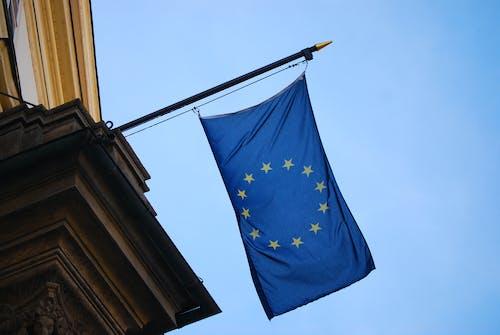 欧洲国旗, 欧洲联盟, 歐洲, 藍色 的 免费素材照片