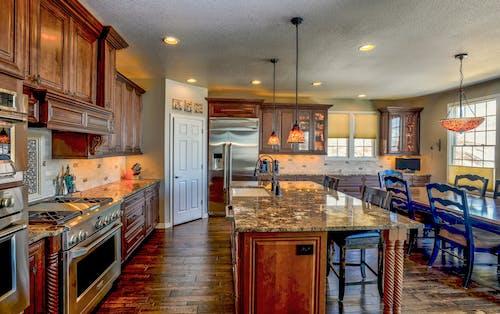 Immagine gratuita di bancone della cucina, cucina, elettrodomestico da cucina, interior design