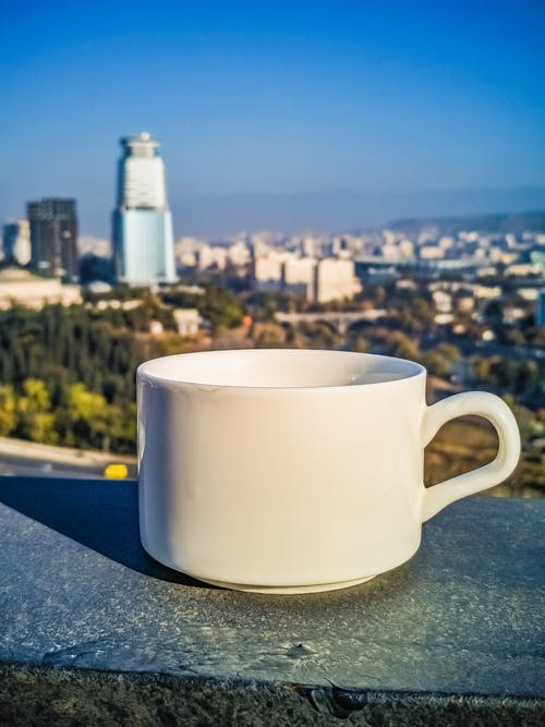 Free stock photo of appartments, ceramic cup, coffee, pov