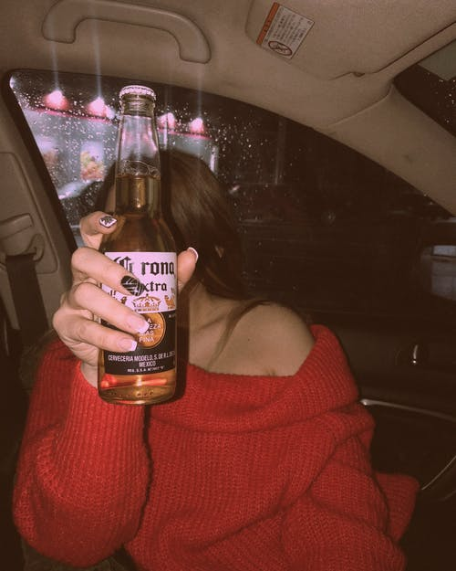 Free stock photo of beer, beer bottle, car, girl