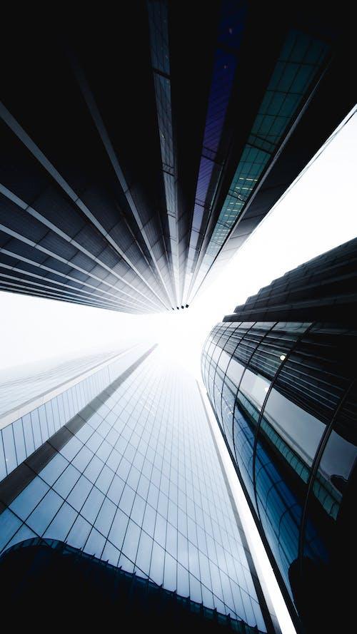 Foto stok gratis Arsitektur, bangunan, bentuk pola, biru