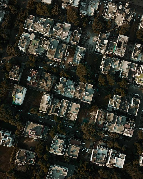 Birds-eye View Photo of Buildings