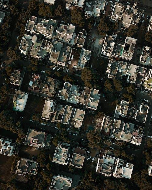 Foto stok gratis Arsitektur, atap, bangunan, fotografi udara