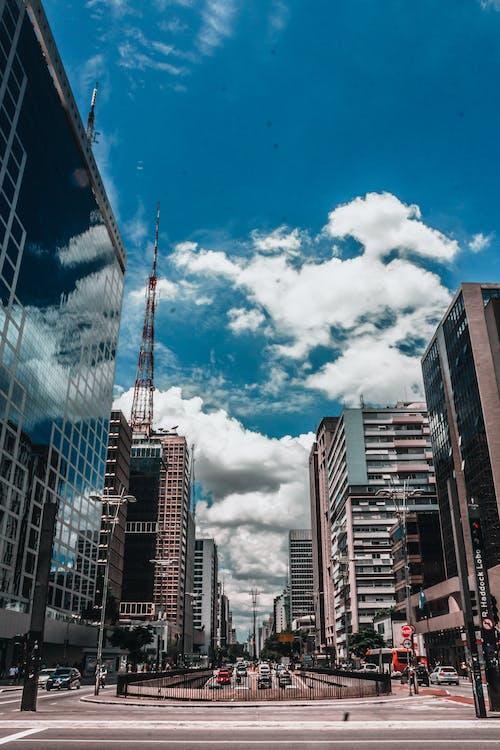 Foto profissional grátis de azul-celeste, céu, céu azulado, Papel de parede 4K