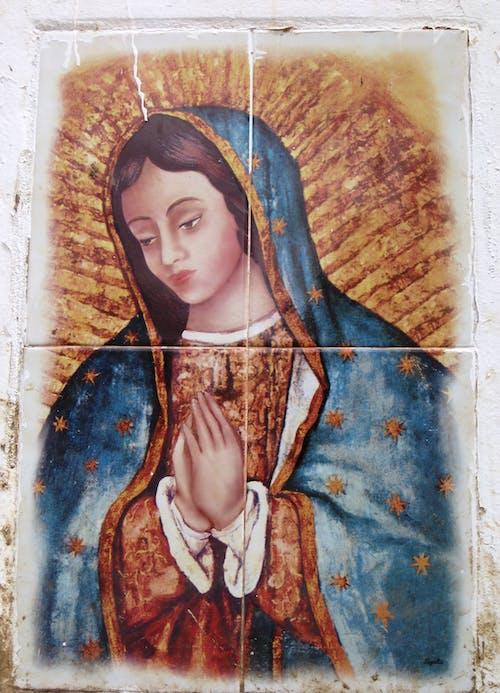 คลังภาพถ่ายฟรี ของ virgen, virgen de guadalupe, บริสุทธิ์, ผนัง