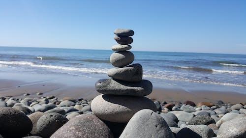 和平, 平衡, 海灘 的 免費圖庫相片