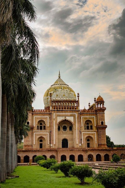 Immagine gratuita di design architettonico, pietra rossa, tomba