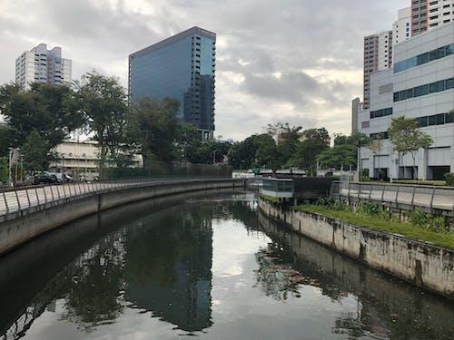 Free stock photo of bridge, canal, landscape, reflection