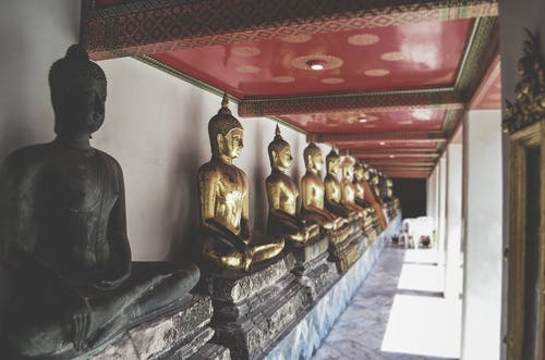 Buddha Statues Inside Building