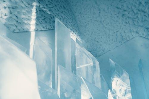 Free stock photo of cold, ice, ice hotel, pillars