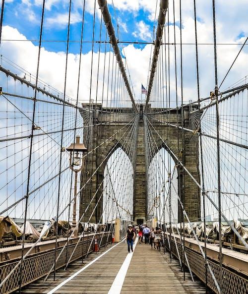 Základová fotografie zdarma na téma běžní lidé, brooklyn, brooklynský most, město new york
