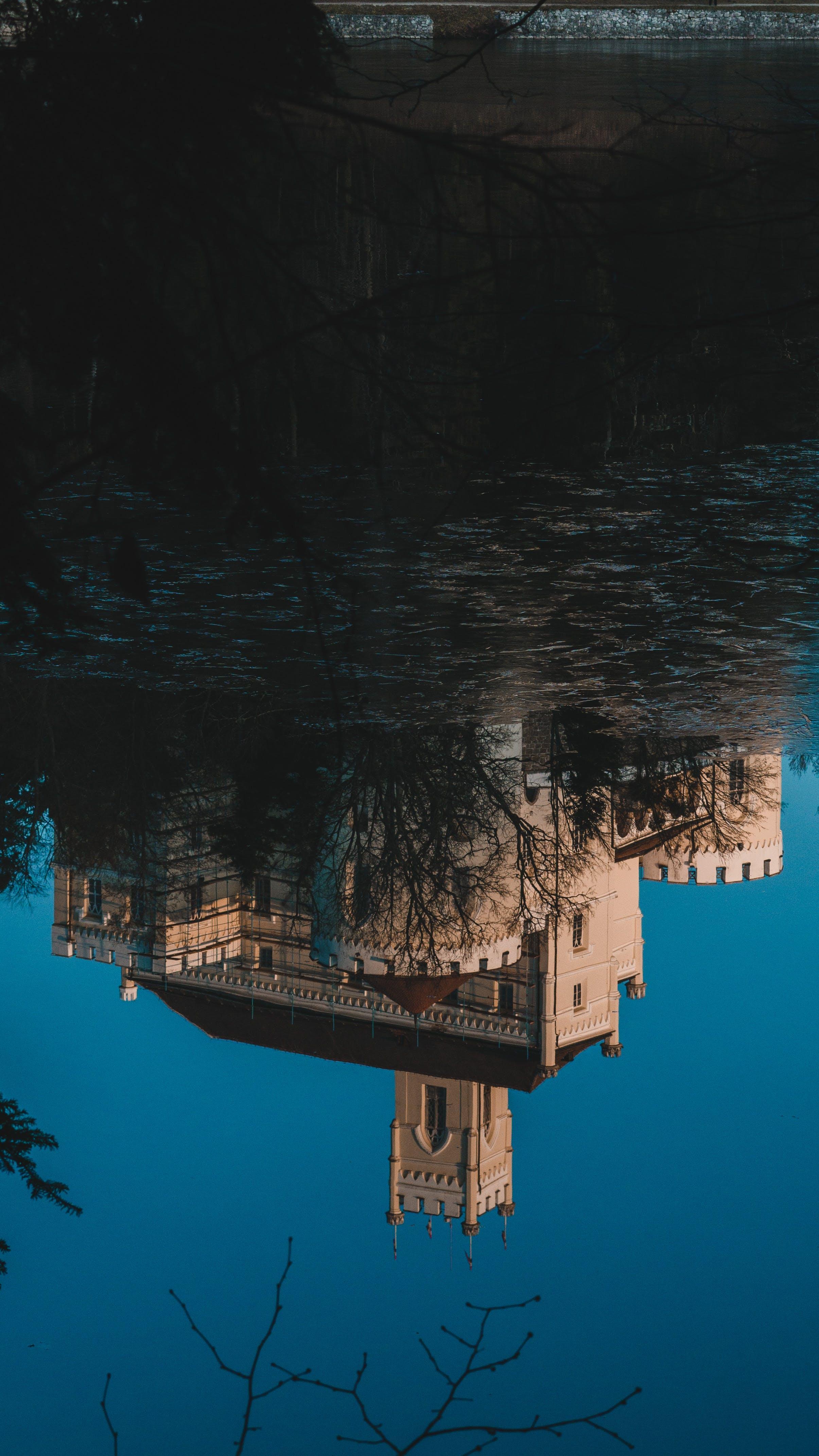Gratis arkivbilde med refleksjon, slott