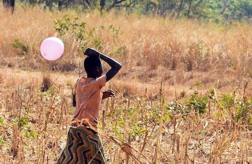 Free stock photo of africa, african girl, balloon, childhood