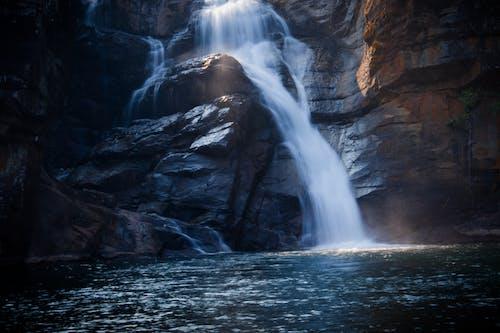 Foto d'estoc gratuïta de aigua, cascades, corrent, exposició llarga