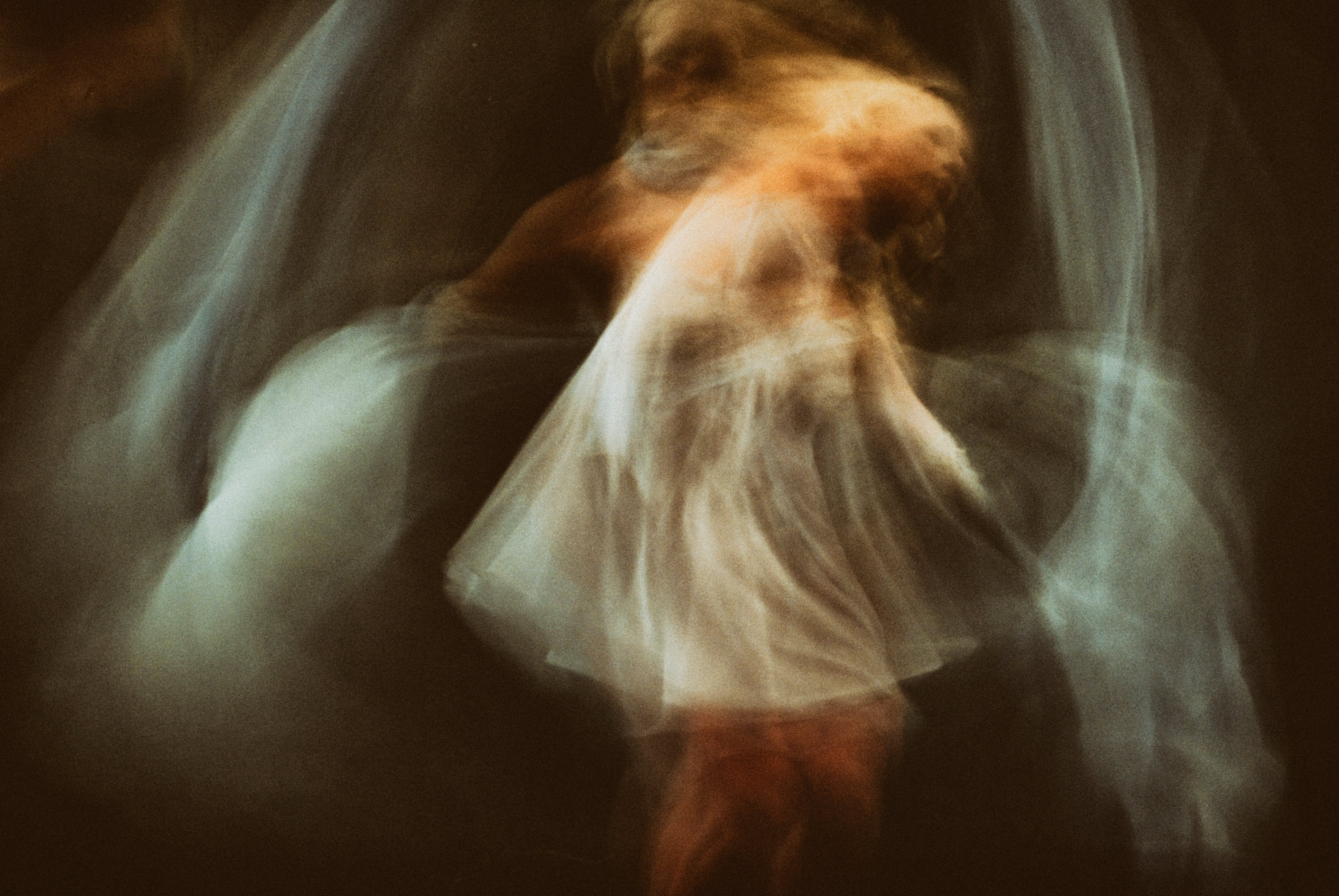 Long Exposure Shot Of A Girl Dancing