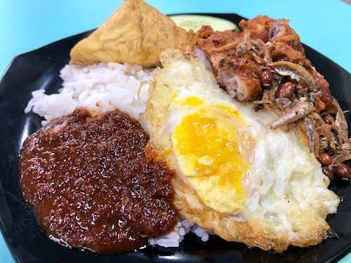 Free stock photo of indonesian, malay, Nasi lemak, rice