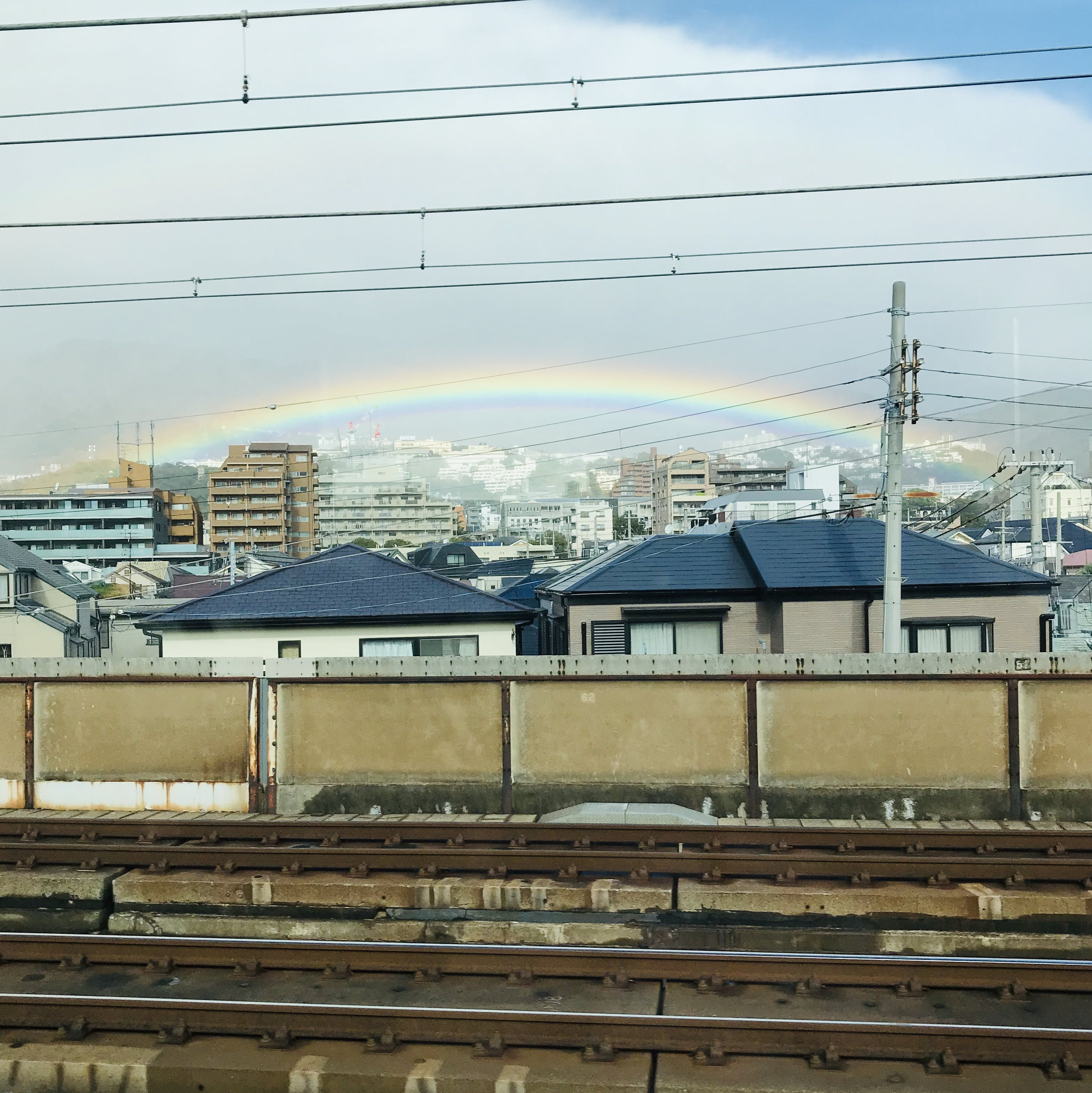 Free stock photo of city, railway, rainbow