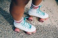 White-and-red Roller Skates