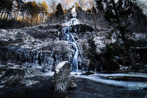 4k 바탕화면, 겨울 배경, 겨울 풍경, 눈 덮인 산의 무료 스톡 사진