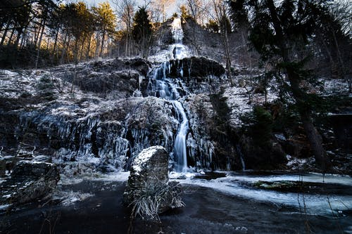 Free stock photo of 4k wallpaper, beauty in nature, cascade, frozen lake