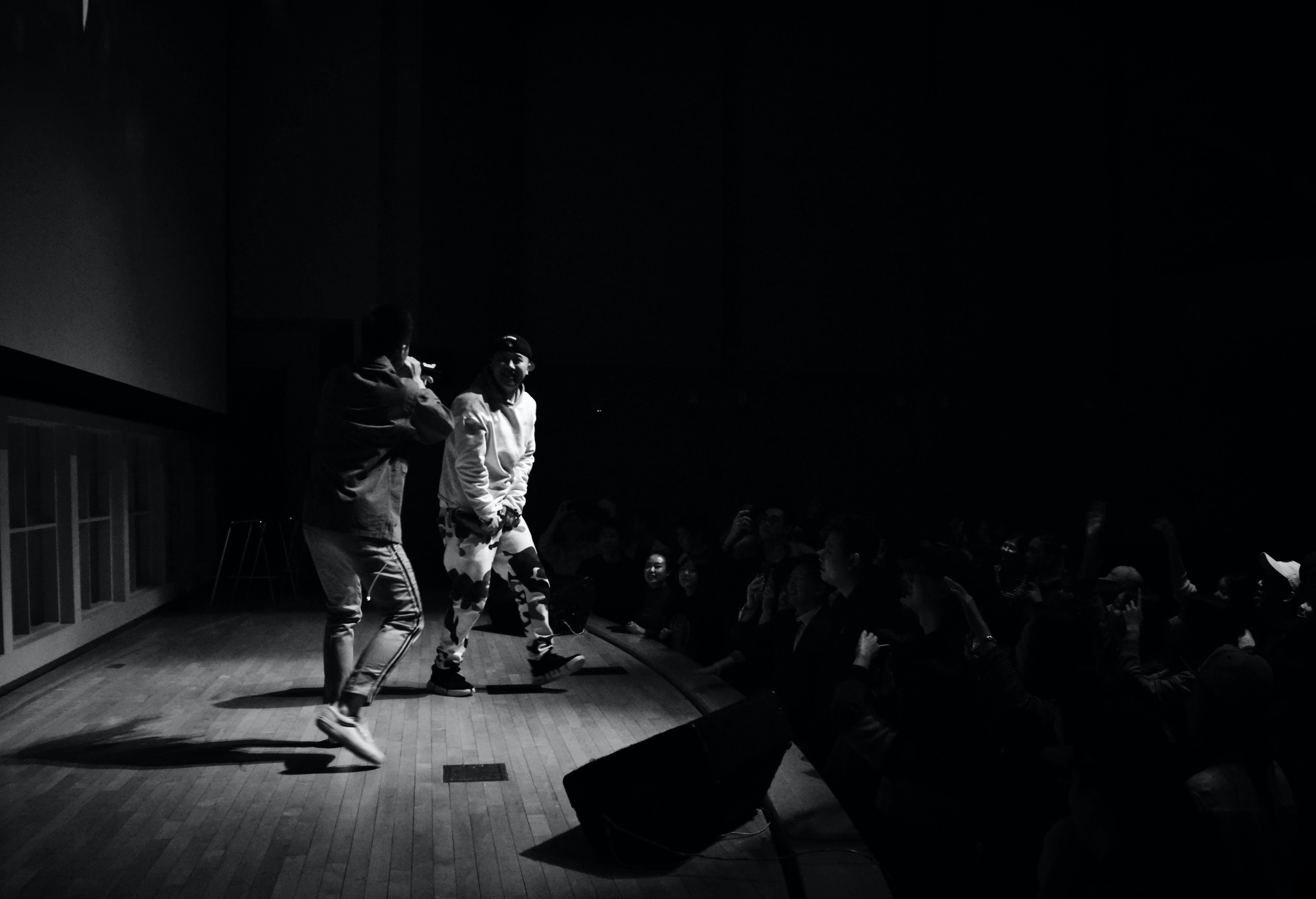 Free stock photo of live show, monochromatic, singers