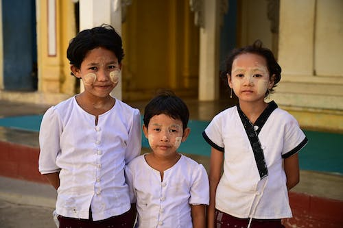 Free stock photo of asian child, asian children, bagan, myanmar