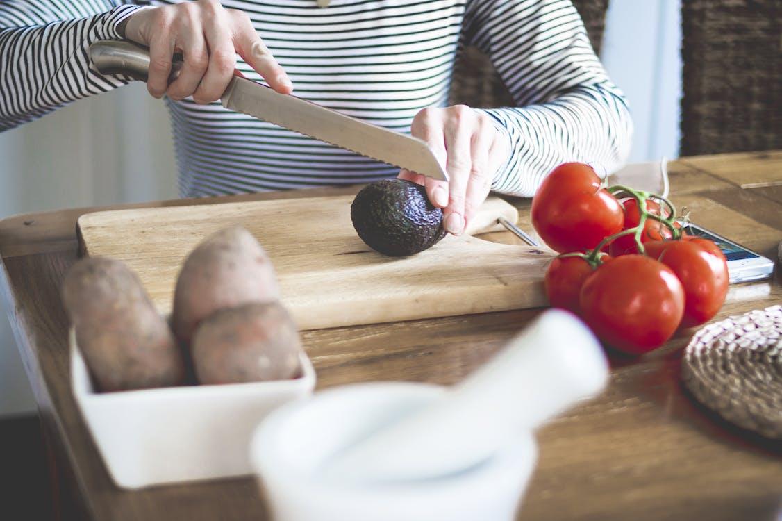 ahşap, Avokado, bıçak