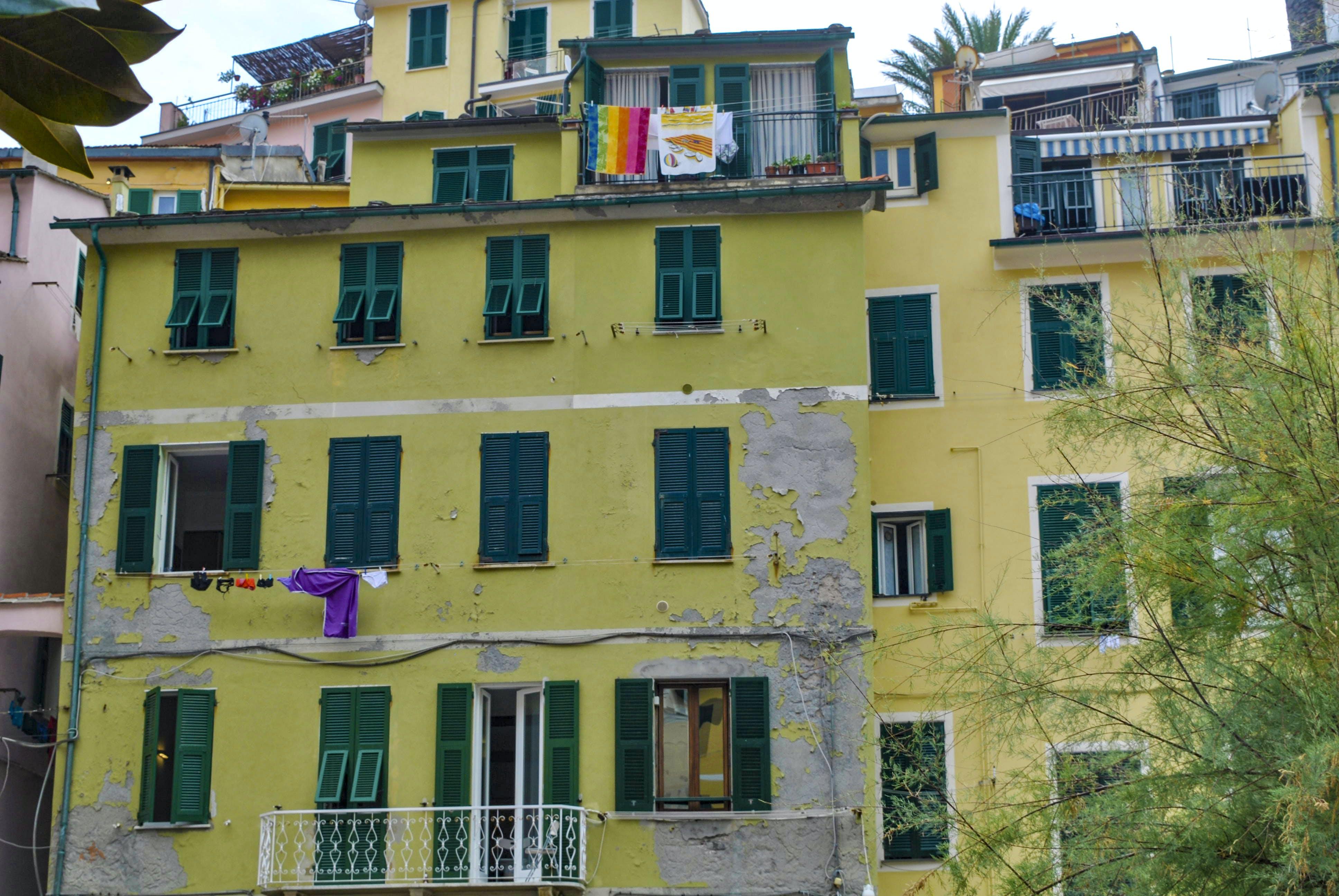 mediterran的, 五漁村, 房子, 義大利 的 免费素材照片