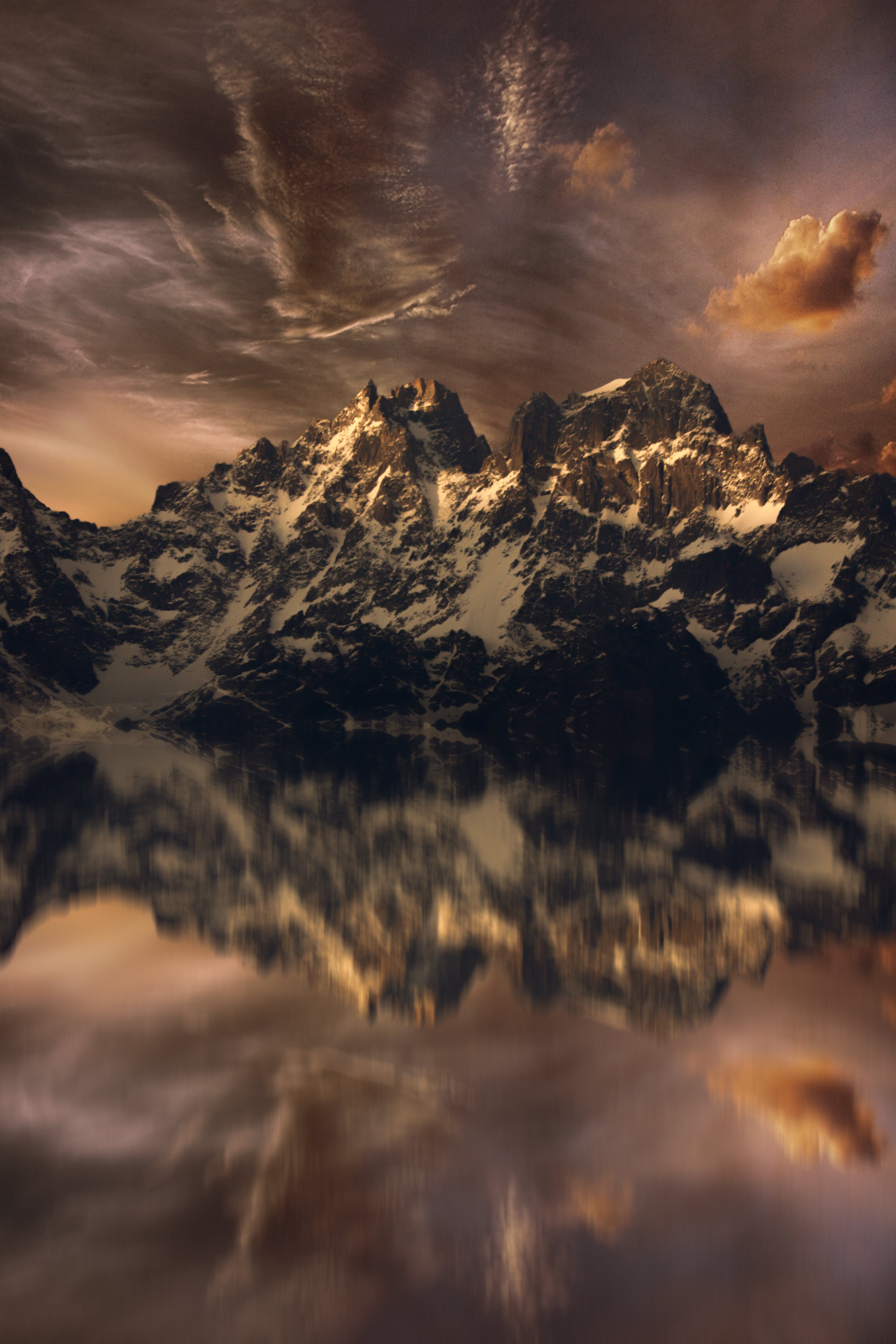 Free stock photo of beauty in nature, himalayas, mirror image, mirror lake