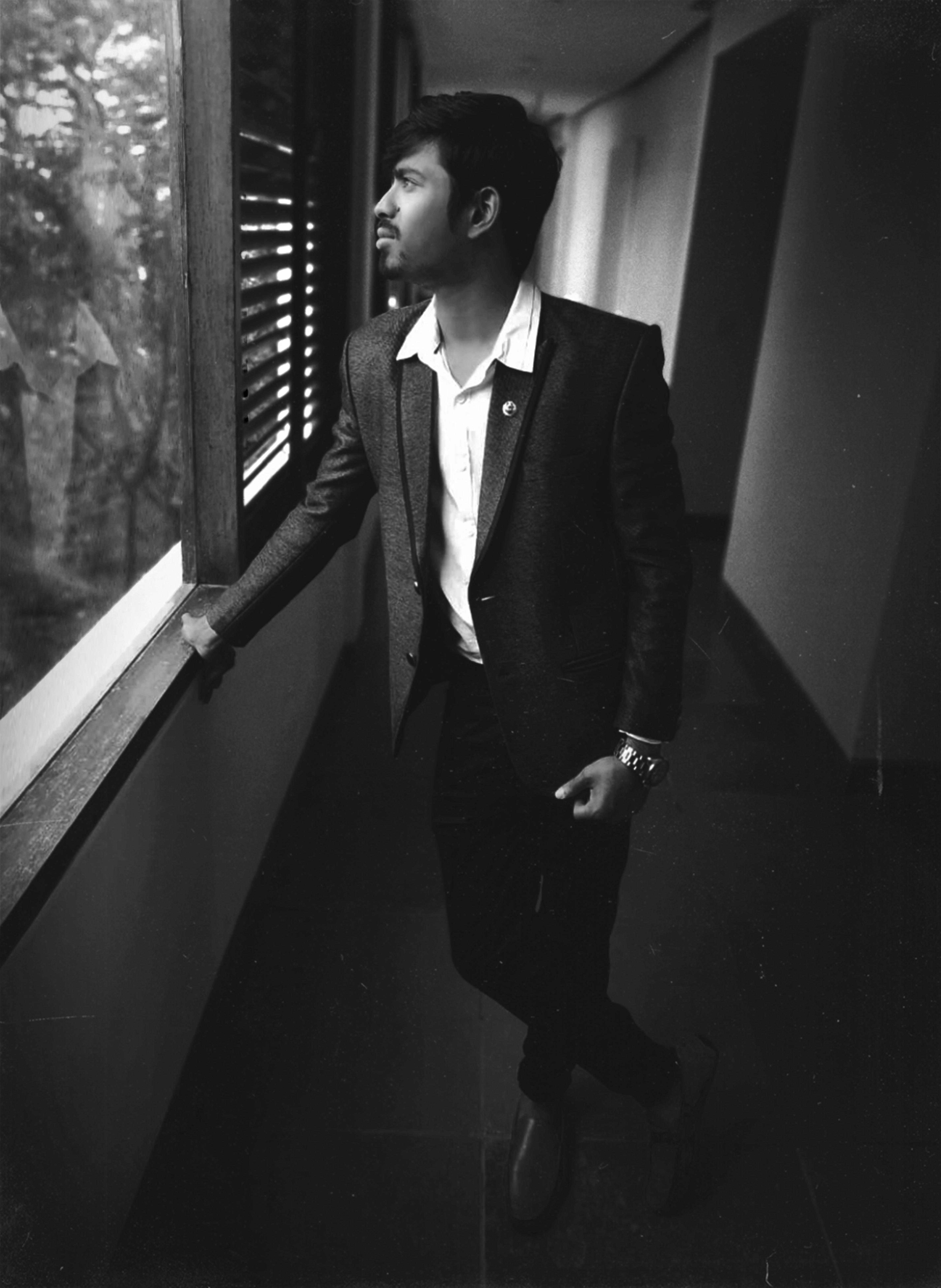Free stock photo of black and white, classic, classy, corridor
