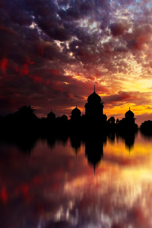 Free stock photo of dramatic sky, india, mirror