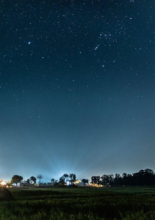Immagine gratuita di luci della notte, notte, stella, villaggio