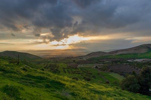 Ingyenes stockfotó észak, jordan, naplemente, zöld témában