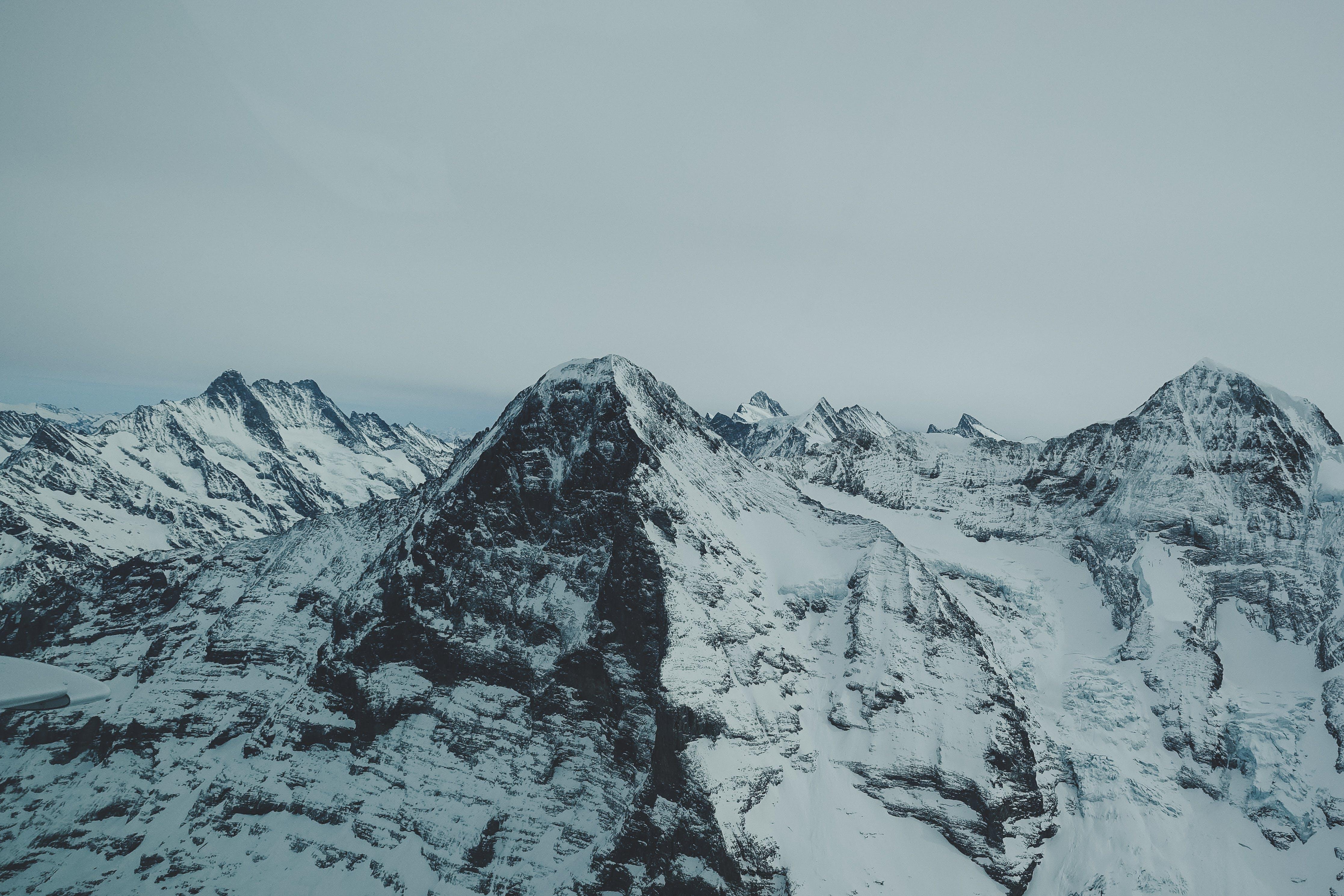 bjerg, bjergtinde, dramatisk