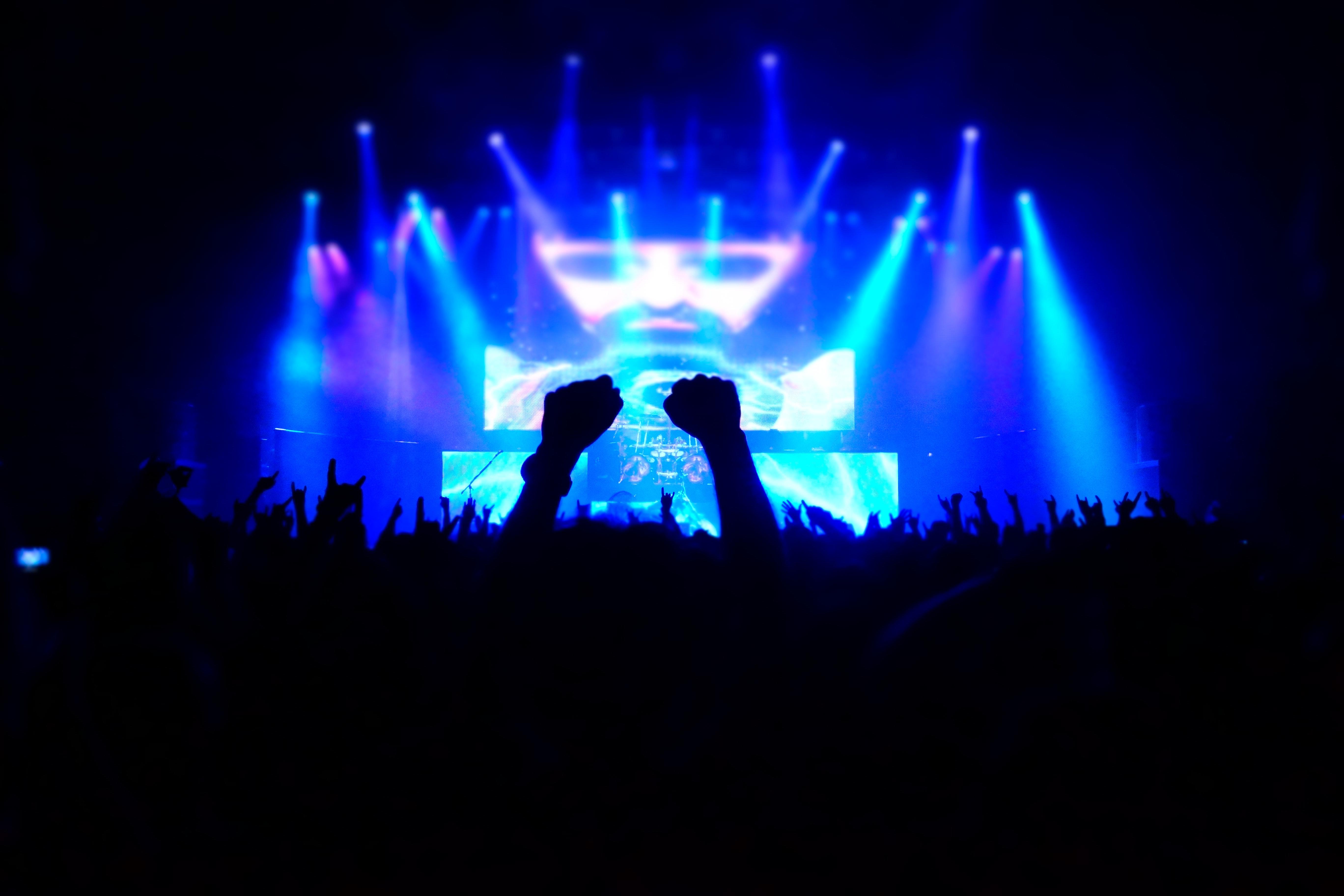Free stock photo of concert, hand, light
