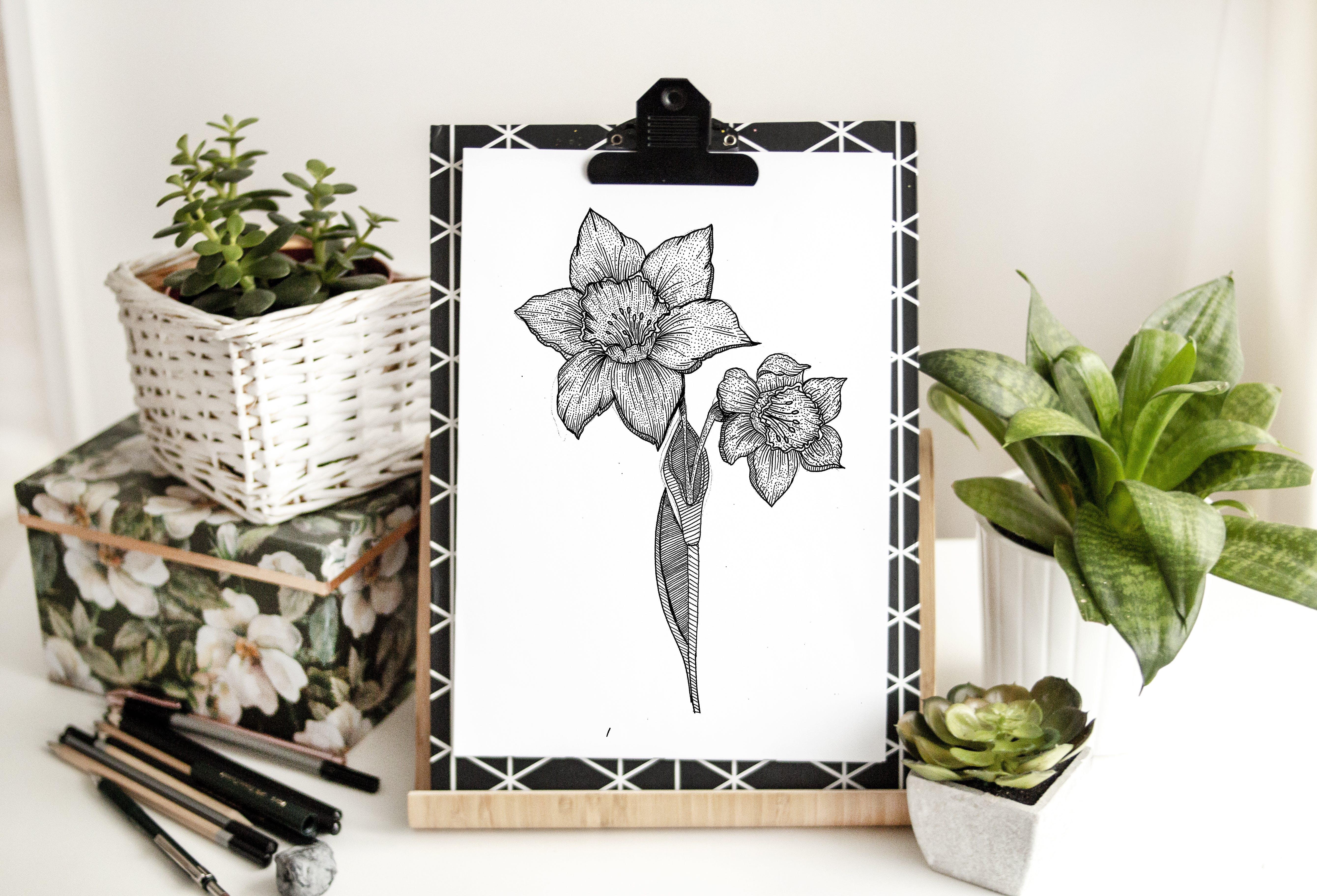 Black Flowers Sketch