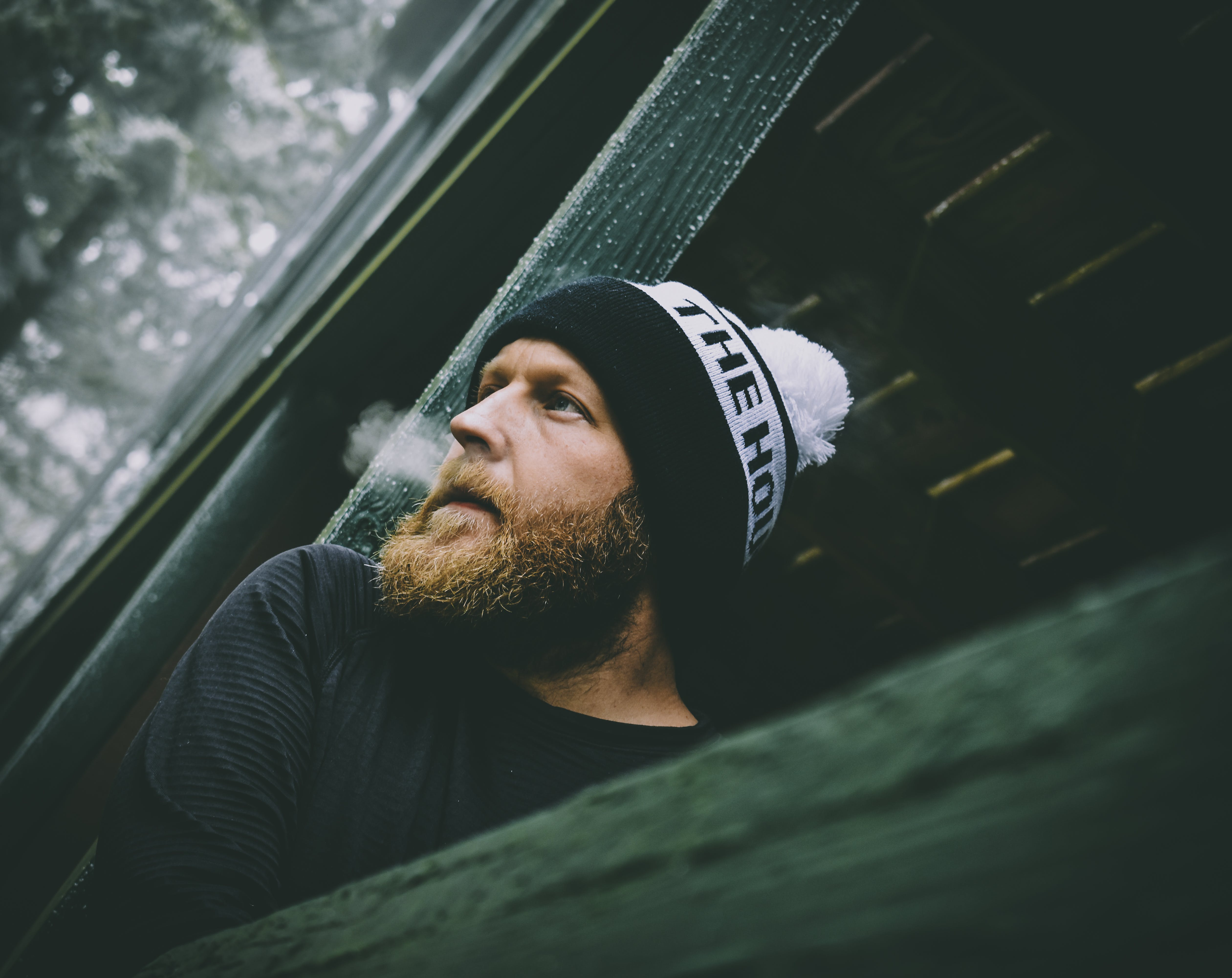 Man Wearing Beanie and Sweater