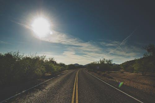 Foto stok gratis jalan raya, jalan terbuka, keindahan di alam, lansekap